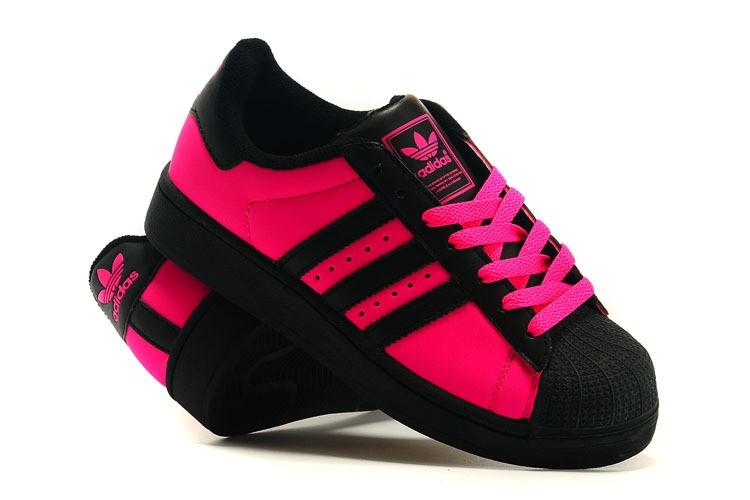 Meilleures marques à bas prix adidas original noir et rose