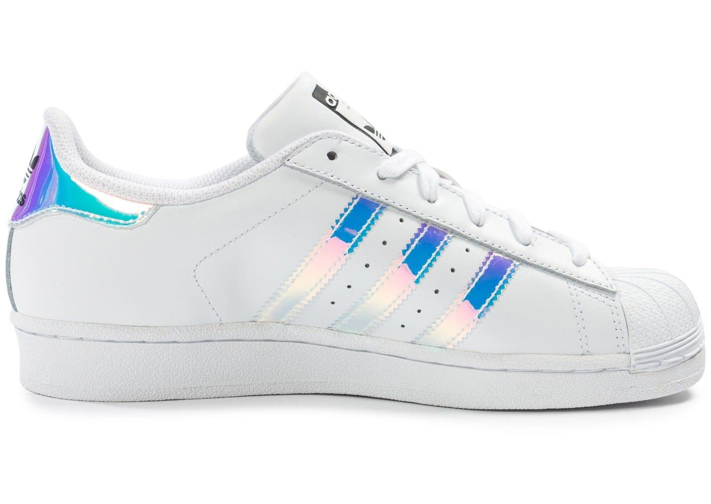 superstar adidas holographique