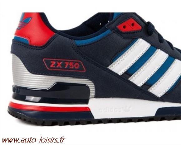 basket adidas zx 750 bleu