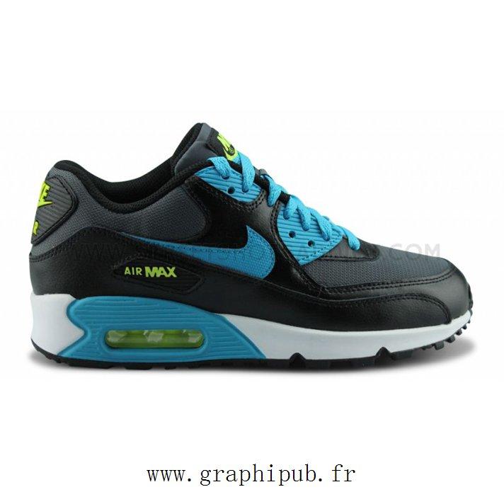 size 40 1bf62 0be91 air max 90 junior noir et bleu